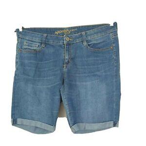 Arizona Jean Co Denim Shorts Cuffed Hem Juniors Size 13 Blue Light Wash