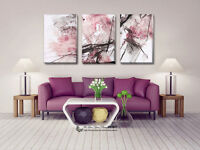 5 Colours Abstract Stretched Canvas Print Framed Wall Art Home Office Decor Gift