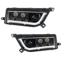 New LED Headlight Set With Halo Strip Headlights POLARIS RZR XP 1000 XP 4 1000