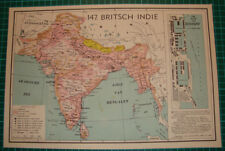 Old map British Raj India Brits-Indië 1939 kaart landkaart Bombay port harbor