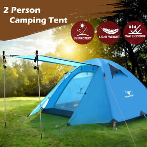 Portable Outdoor Lightweight Hiking Backpacking Camping Waterproof Tent Blue