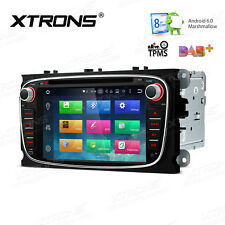 """7"""" Black Car DVD Stereo Radio Octa-Core Android 6.0 GPS Navi 4G For Ford S-Max"""