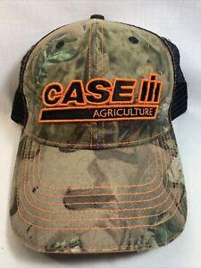 Case IH Agriculture and Farm Equipment Camo Adjustable Mesh Baseball Cap Hat