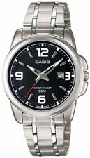 Casio Women's Silver Stainless Steel Quartz Black Dial 50M Watch LTP1314D-1AV