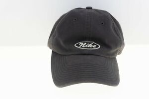 VINTAGE Nike Hat with Unusual Oval Logo Charcoal and Silver Pro Classics 7 3/8