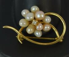 Boodles & Dunthorne 18ct Gold Pearl & Diamond Brooch p1767