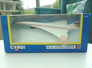 Corgi Mattel BA Concorde Model 91835 Box British Airways White Diecast Aeroplane