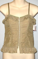 New BLUSH Size S Khaki Angel Flirt Strapless Corset