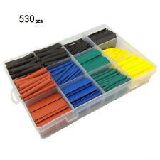 530pc Heat Shrink Butt Car Electrical Wire Crimp Terminal Connectors Tubing Kit