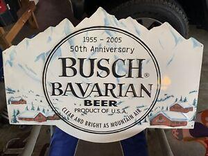 Busch Bavarian Beer Anniversary Sign