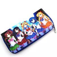Japan anime Sailor Moon print cosplay manga Continental long wallet coin purse