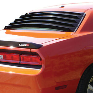 Fits: Chrysler / Dodge Challenger 2008-2013 Willpak Aluminum Rear Window Louver