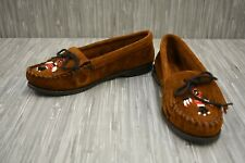 **Minnetonka Thunderbird II 173 Moccasin Slipper - Women's Size 6 - Brown