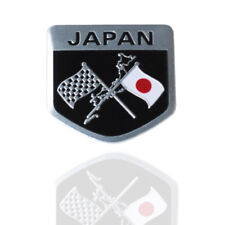 50x50mm Metal Japan Japanese Flag Shield Emblem Badge Car Motorcycle Sticker YY