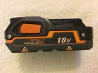 New Ridgid R840085 18V 18 Volt 1.5Ah Hyper Lithium Ion Battery Li-ion