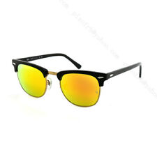 Nueva!!!!! Ray-Ban Clubmaster Gafas De Sol-RB3016 901/69 - Negro/Naranja Flash