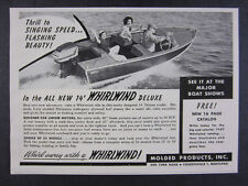 1957 Whirlwind Deluxe 14 Boat photo vintage print Ad