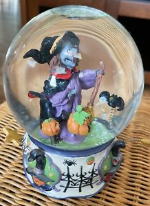 Halloween Witch Musical Snow Globe. Excellent Condition