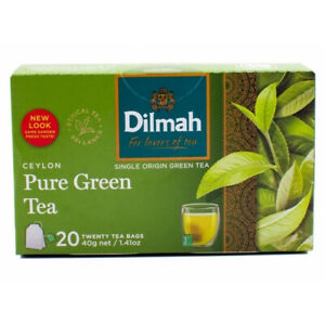 Ceylon Dilmah Green Tea Bags 20 40g Origin Single Natural Sri Lanka 100% Healthy
