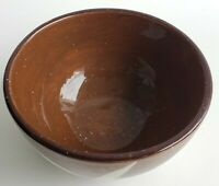 "2004 Julie Ueland (2) 6"" inch Cereal Soup Bowls Brown Bamboo Pattern Dinnerware"