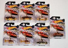 Hot Wheels Holiday Hot Rods Christmas Santa Snowmobile Sleigh Random Set of 7