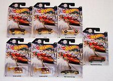 Hot Wheels Holiday Hot Rods Christmas Santa Snowmobile Sleigh Random Set of 7