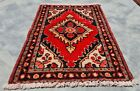 Authentic Hand Knotted Vintage Hamidoun Wool Area Rug 1.11 x 1.5 Ft (11963 KBN)