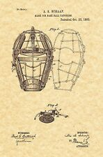 Patent Print - Catcher's Mask Baseball 1883 Art Print. Ready To Be Framed!
