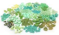 170g Czech Glass Bead Mix Lot, Assorted Shapes, Teardrop, Flower, Leaf, Heart