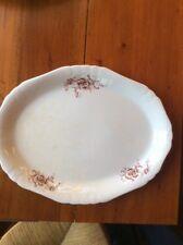 """Vintage Smith Phillips Semi Porcelain Large Platter 16"""" Scalloped Edges White"""