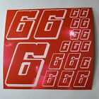 PINK CHROME w/White #6's Decal Sticker Sheet DEFECTS  1/8-1/10-1/12 RC Mo BoxD