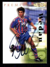 Marcus Wedau Bayer Uerdingen Panini Card 1995-96 Original Signiert +A99145