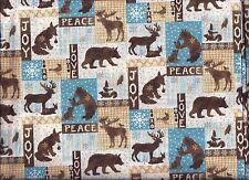 Christmas valance Woodland Moose Bear Deer Patch curtain