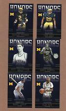 2015 Panini Honors Lot of 6 (Larkin, Woodson, Russell) University of Michigan