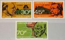 DAHOMEY 1968 349-51 C74-76 5 Ann EUROPAFRIQUE Adenauer De Gasperi Schuman MNH
