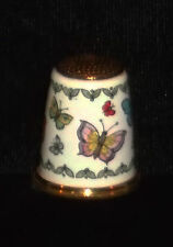 Halcyon Days Bilston & Battersea Enamel Butterflies Thimble New In Box