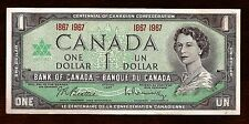 ser number 1867 1967 CANADA Canadian CENTENNIAL one 1 DOLLAR BILL NOTE crisp UNC