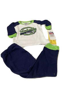 NFL Seattle Seahawks Baby Fan Wear Infant Pajamas Set 2pc  Size 12 Months...Mix9