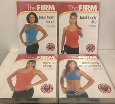 The_Firm: (x4) DVD, burn & shape, time-crunch, toner & lite NEW FREE SHIPPING