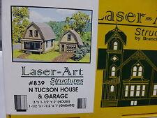 Branchline #839 Tucson Catalog House w/Garage - Laser Art -- Kit