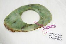 10C Thai Dvaravati Nephrite Jade Oval Pendant - Excavated - repaired (Mil)
