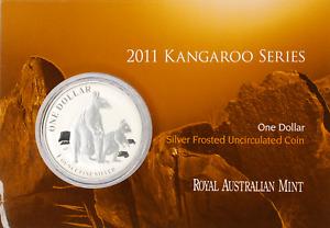 1 AU Dollar Känguru Silber 1 OZ Silver Kangaroo 2011 in Blister Coincard