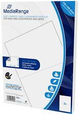 100 Mediarange Etiketten Label selbstklebend A5 210 x 148,5 mm auf 50 A4 Bogen