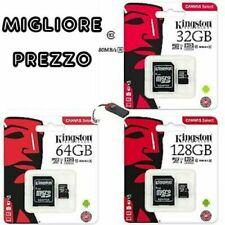 KINGSTON MICRO SD PENDRIVE 32GB 64GB 128GB CLASS 10 SCHEDA MEMORIA
