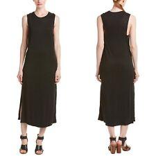 Rag & Bone 100% Linen Side-Slit Maxi Black Summer Dress • Womens Size XXS • $250