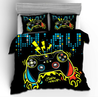 3D Gamer Video Game Bedding Set Duvet Cover Game Over Quilt Cover PillowCase