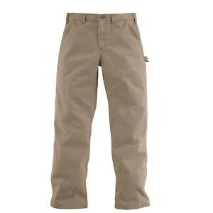 Carhartt Men's Washed Twill Dungaree Pant Dark Khaki