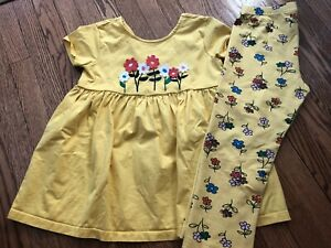 Girl's HANNA ANDERSSON Applique Tunic + Cropped Leggings Set - Size 150 (12)