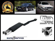 SILENCIEUX POT D'ECHAPPEMENT BMW 3 E30 6 CYL. 1985-1988 1989 1990 TIP 2x80 DTM