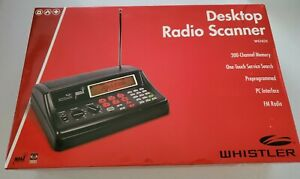 Whistler WS1025 200-Channel Desktop Analog Radio Scanner Black  NEW